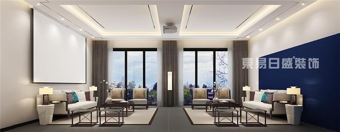 之江花园-新中式风格效果图-中式新房住宅装修设计效果图