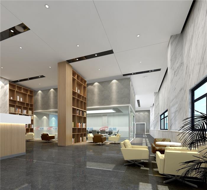 杭州汽车配件公司办公楼装修-简约风格-简约写字楼办公室装修设计效果图