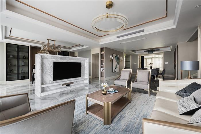 保利霞飞郡- 轻奢风格-现代新房住宅装修设计效果图