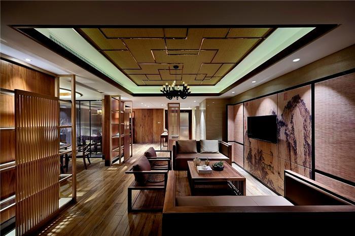 野风秋雅-新中式风格-中式新房住宅装修设计效果图