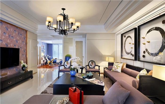 雅居乐-轻奢风格-简欧新房住宅装修设计效果图