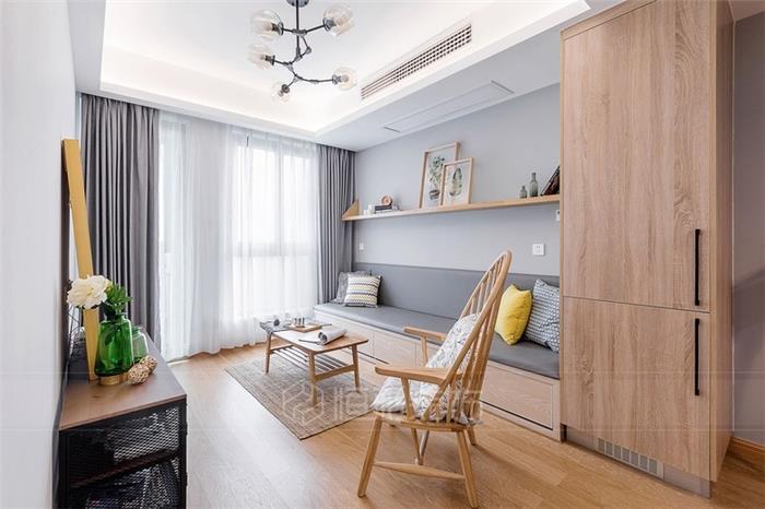 清新北欧风格欧式旧房住宅装修设计效果图