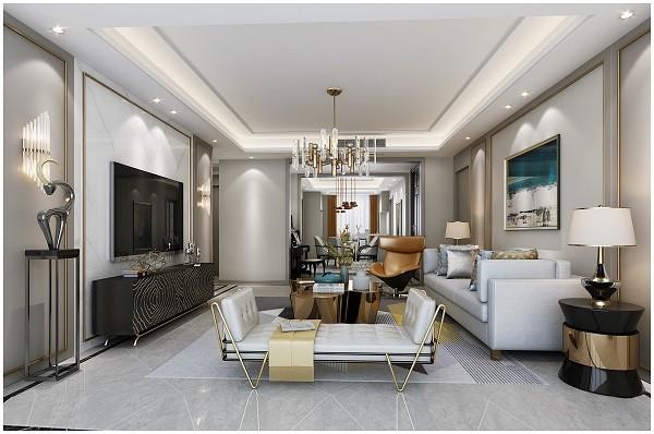 光明领峰现代新房住宅装修设计效果图