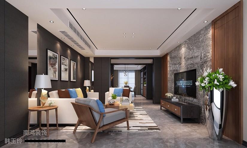领峰 现代新房住宅装修设计效果图