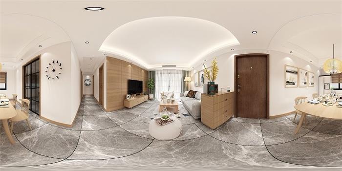 龙湖滟澜海岸北欧新房住宅装修设计效果图