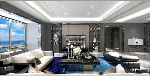 海外滩现代新房住宅装修设计效果图
