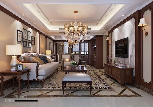 黄山豪庭美式新房住宅装修设计效果图