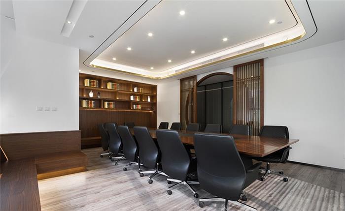 中式写字楼办公室装修设计效果图