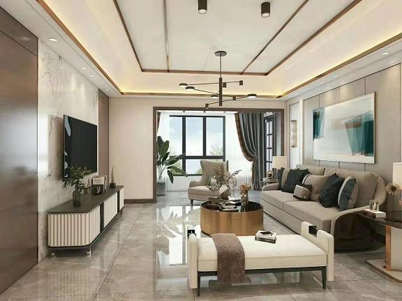 吾悦广场  新中式新房住宅装修设计效果图
