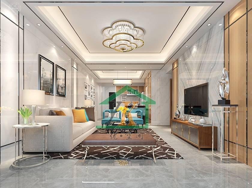 锦绣江南后现代新房住宅装修设计效果图