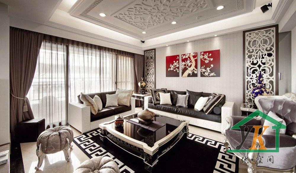 吾悦一期6幢新中式新房住宅装修设计效果图