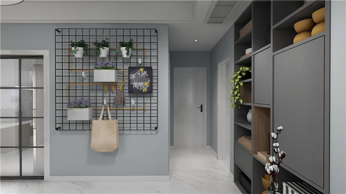 五江湾南区14幢1802室 现代新房住宅装修设计效果图