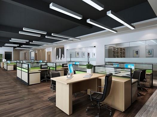龙源照明  现代写字楼办公室装修设计效果图