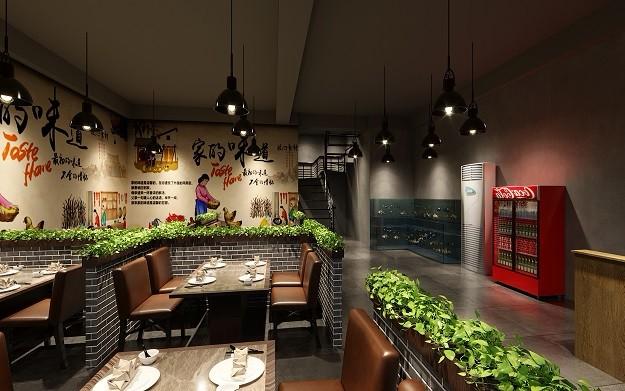绿地新都会-地锅鸡  中式餐厅酒楼装修设计效果图