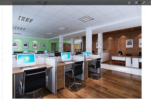 华力克利泊  现代写字楼办公室装修设计效果图