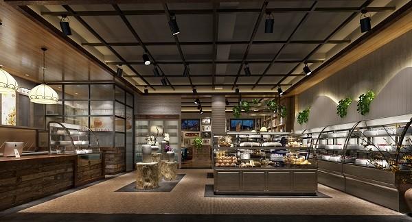 托斯卡纳面包坊 美式乡村 面包店 烘焙店装修设计效果图