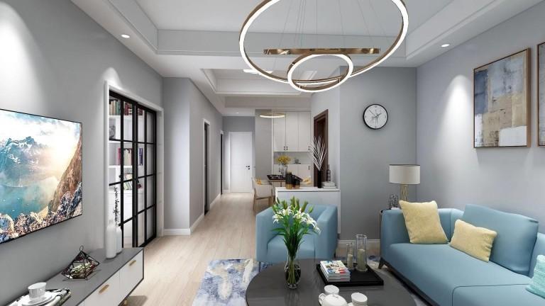 宁波鄞州 上上城5幢601室 现代新房住宅装修设计效果图