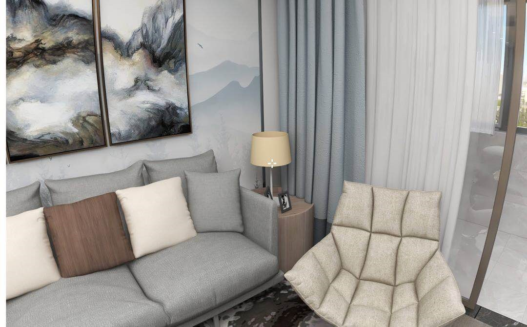 现代精装公寓装修设计效果图