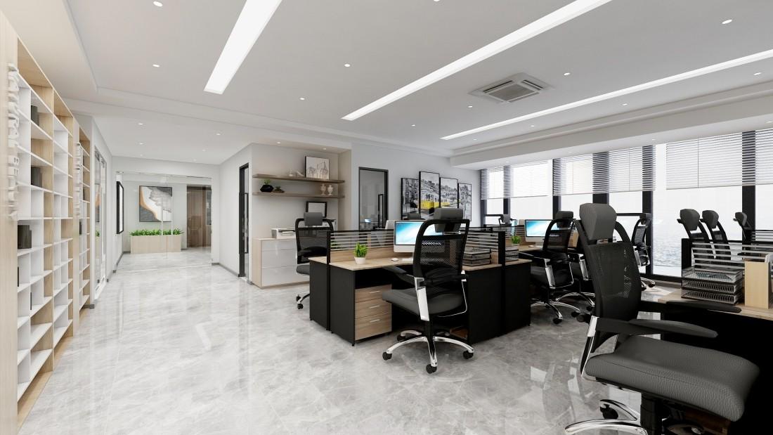宁波 海曙壹都文化广场办公楼现代写字楼办公室装修设计效果图