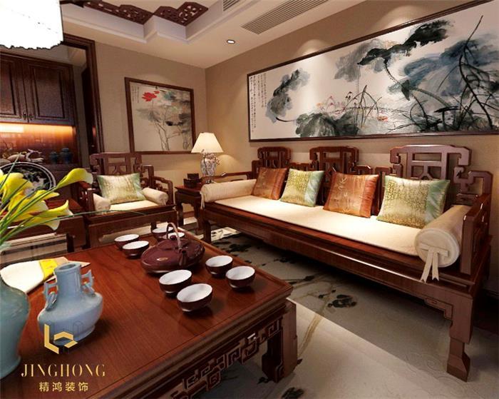 中式古典新房住宅装修设计效果图