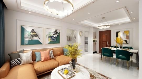 宁波鄞州 格兰晴天4幢204室现代新房住宅装修设计效果图