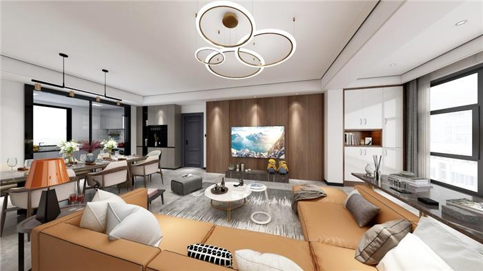 宁波江北 景瑞天赋苑10幢804室 混搭新房住宅装修设计效果图