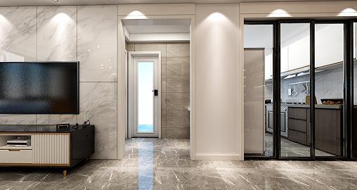 东方港城106平现代新房住宅装修设计效果图