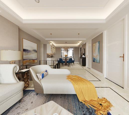 阳光水岸复式住宅装修设计效果图