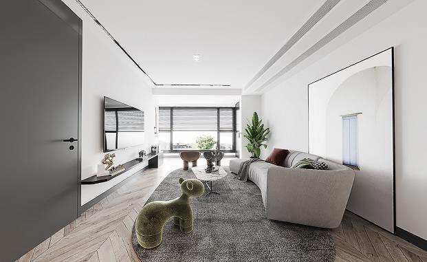 万璟华府 现代新房住宅装修设计效果图