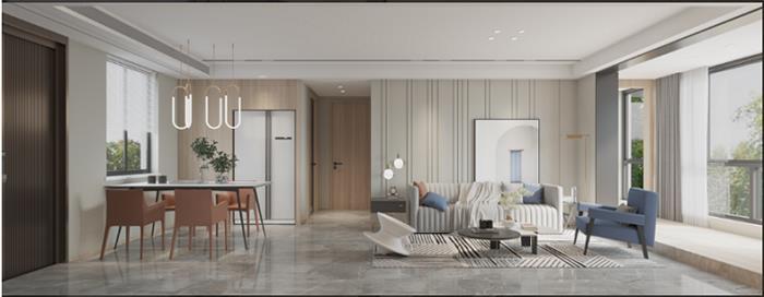 时代望府现代新房住宅装修设计效果图