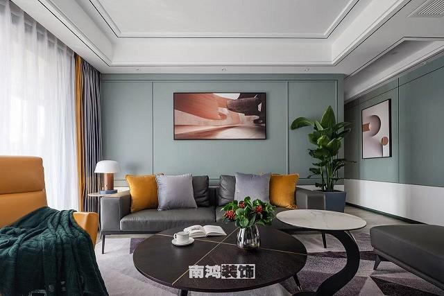 东方公馆装修案例-现代新房住宅装修实景图