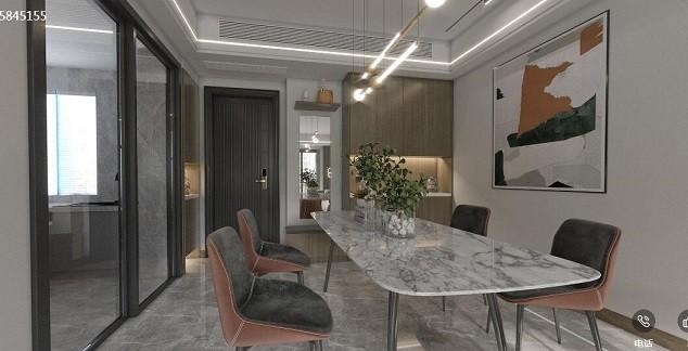 东城阳光现代新房住宅装修设计效果图