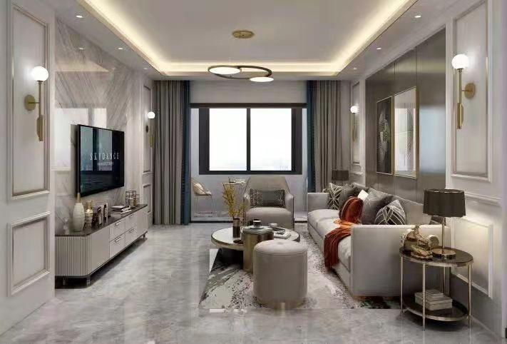 锦山府现代新房住宅装修设计效果图