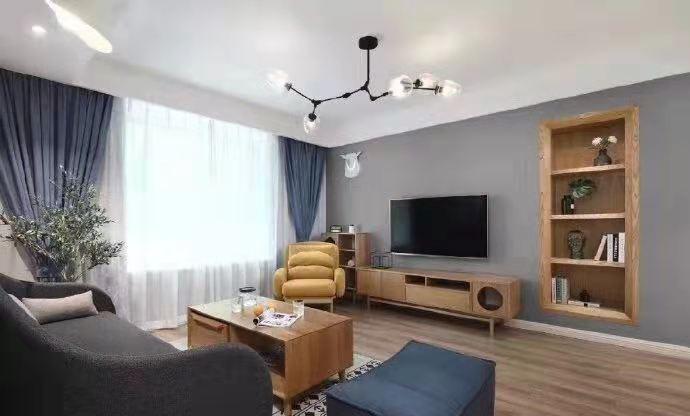 姚江上上城简约新房住宅装修设计效果图
