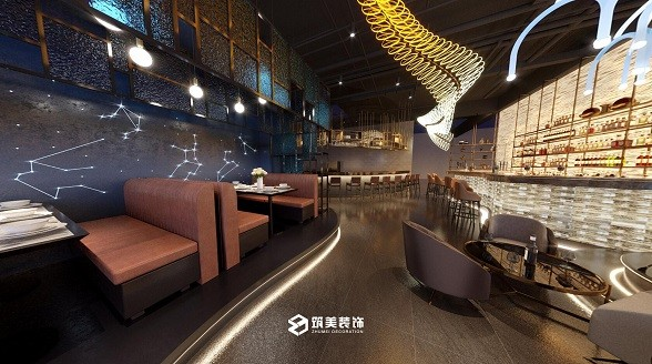 水街西餐厅装修-西餐厅装修设计效果图