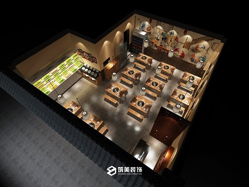 串越蜀道-串串香装修-混搭餐饮店装修设计效果图