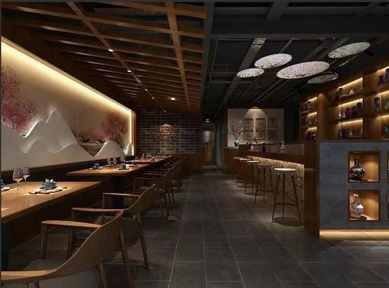 鼓楼桃笺酒肆500平方餐厅装修-餐饮酒楼装修设计效果图