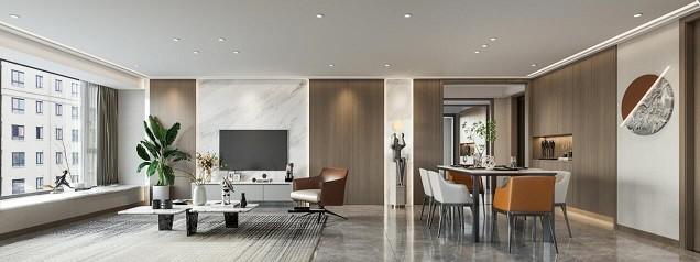 河姆渡国际花园二期 现代新房住宅装修设计效果图
