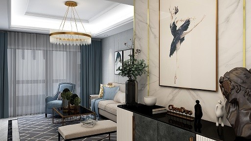 翰林园   现代新房住宅装修设计效果图