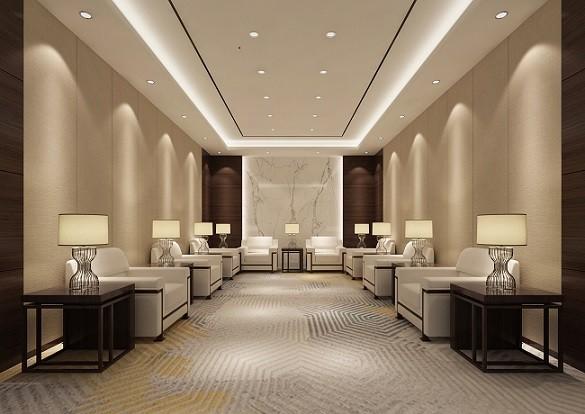 宁海金融贸易办公室装修-现代写字楼办公室装修设计效果图