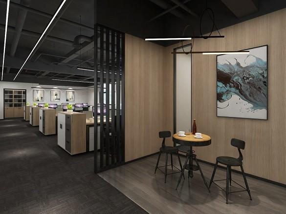 浙江绿光嘉朔电力工程有限公司办公室装修案例-现代写字楼办公室装修设计效果图