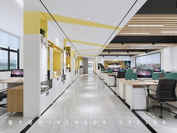 北仑工厂办公室装修-现代写字楼办公室装修设计效果图